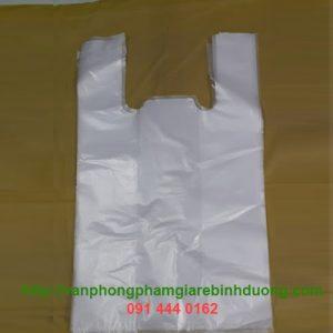 túi nylon trắng quai