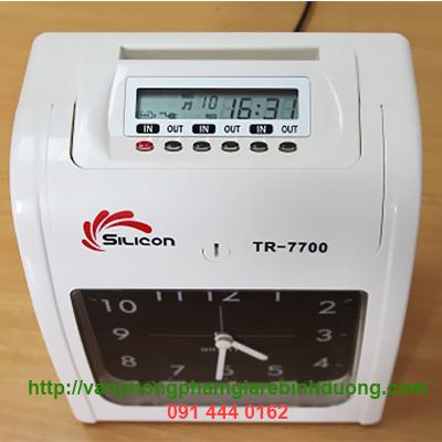 máy chấm công bằng giấy silicon TR-7700